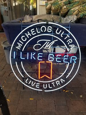 Neon beer sign for Sale in Campbell, CA