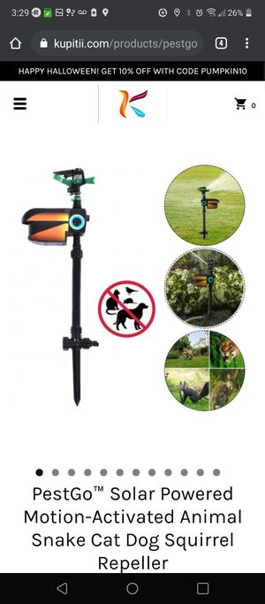 Solar Powered Motion-Activated Animal Repeller for Sale in Bakersfield, CA