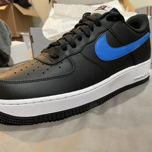 Nike AF1 New In Box Size 11 Black/ Photo Blue/ Noir Red for Sale in Los Angeles, CA