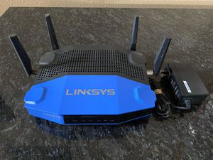 Linksys WRT1900ACS. Open Source Dual-Band Gigbit WiFi Wireless Router. Black/Blue color Dual Core 1.6GHz CPU, 4.3x faster than N technology for Sale in Houston, TX
