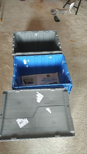 3 stackable storage cartons for Sale in Hyattsville, MD