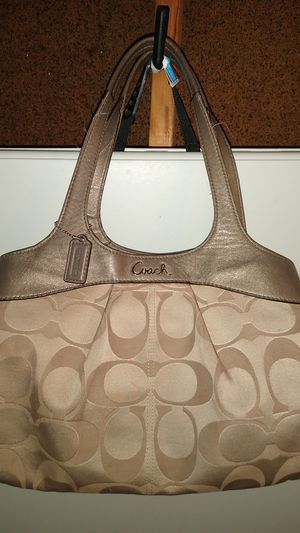 COACH A1294-f18828 Khaki Fabric & Leather Hobo Bag for Sale in Dublin, OH
