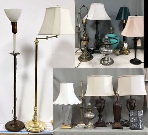 Table Lamps & Floor Lamps Starting at $5.00, Including Mix & Match Lamp Shades for Sale in Chula Vista, CA