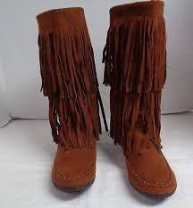 Rampage fringe boots size 7.5