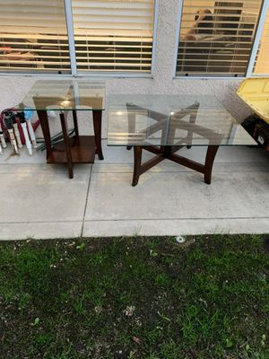 Nice glass top tables for Sale in Fresno, CA