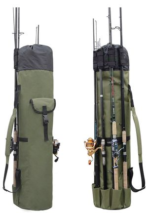 Fishing Rod and Reels Carrying Case with Adjustable Shoulder Strap for Sale in Bluffdale, UT