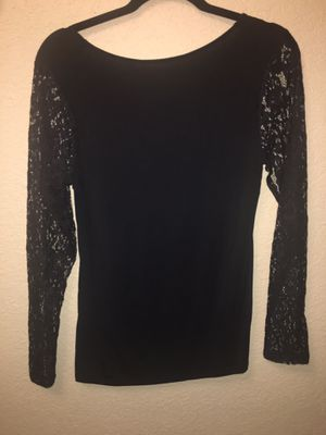 Black Lace Long Sleeve Top for Sale in Bartlesville, OK