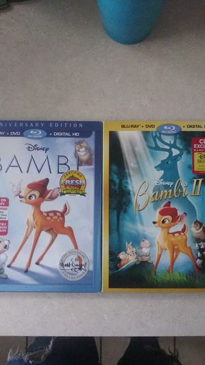Bambi I & II Blu-ray & DVD for Sale in Oswego, IL