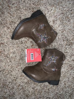 Baby girl boots size 4 new for Sale in El Cajon, CA