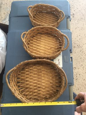 Beautiful gold nesting baskets for Sale in Boca Raton, FL