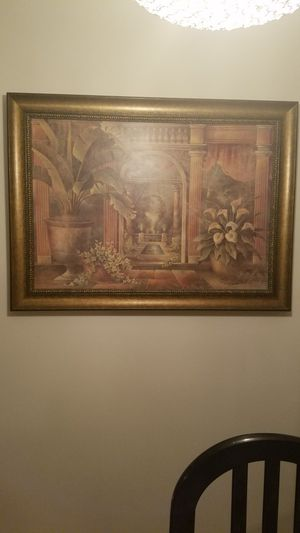 Wall pictures wood frame great conditions for Sale in Clifton, NJ