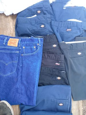 ALL FOR ONLY $20. Fifteen plus pairs dickeys , shorts and pants size 40×32 ......nine shorts ....six pants....fifteen whit cotton shorts. for Sale in Austin, TX