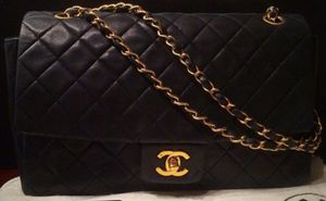 Chanel double chain 24k GH flap bag - vintage for Sale in Lynnwood, WA