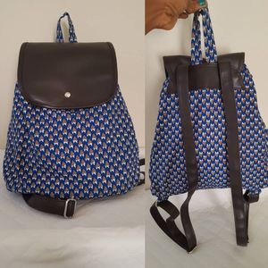African Fabric + Faux leather Backpack for Sale in Hyattsville, MD
