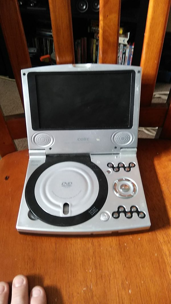 A Coby portable DVD player