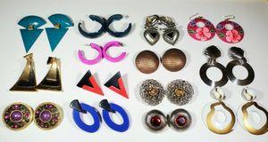 14 Pairs of Big Vintage Funky Earrings for Sale in Oakhurst, NJ