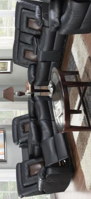 GT Cobra Black Reclining Sofa & Loveseat for Sale in Brooklyn, MD
