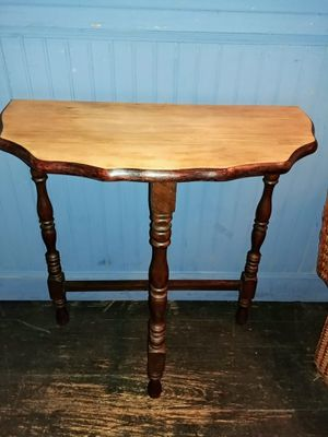 In St. Cloud - Wood half wall console table with scalloped edge for Sale in Saint Cloud, FL