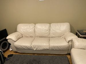 White Leather Couch and Loveseat for Sale in Seattle, WA