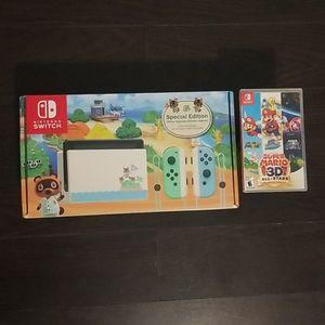 Animal crossing Nintendo switch/Super mario 3d all stars for Sale in Miami, FL