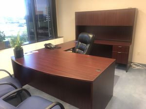Office Desk, Mat, and Chair set for Sale in Dallas, TX