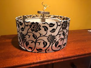 Black and white ceiling light for Sale in Staten Island, NY
