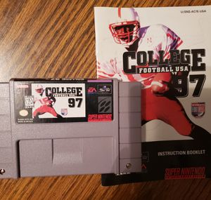 Super Nintendo College Football 97 for Sale in Mt. Juliet, TN