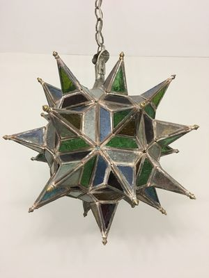 Antique Stained Glass Pendant for Sale in Chamblee, GA
