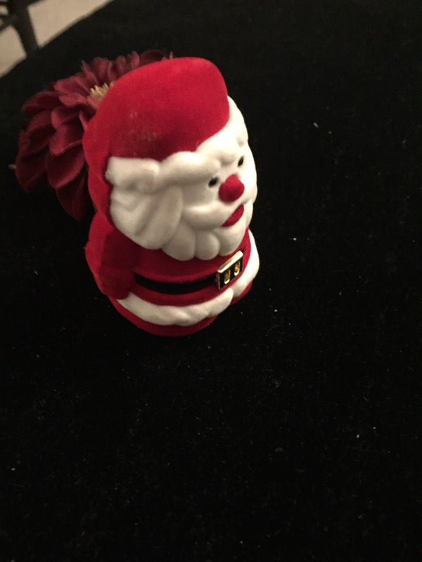 Santa Claus Necklace with gift box shaped like like Santa!