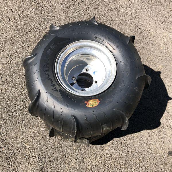 Yamaha Blaster Paddle Tires and aluminum wheels