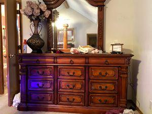 Solid wood bedroom set really nice for Sale in Glenpool, OK