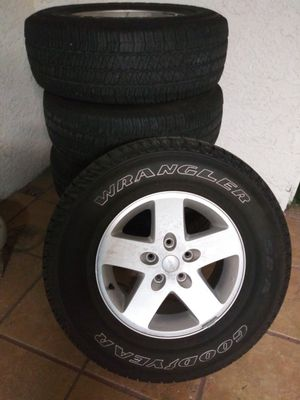 For sale 5 wheels and 5 tires for Sale in Rancho Cucamonga, CA
