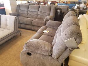 Grey Plush Recliner Sofa and Loveseat Set for Sale in Phoenix, AZ