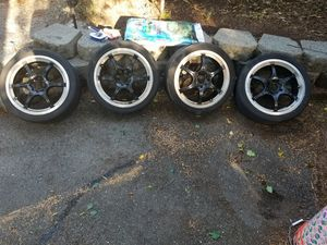 "17"" Focal Rim's Clear Coated Black and Chrome for Sale in Burien, WA"