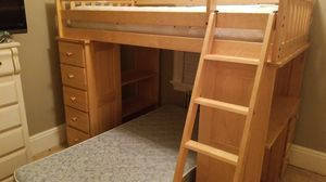 Wooden twin bunk bed for Sale in Paterson, NJ