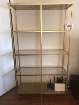 Gold Metal Book Case for Sale in Houston, TX