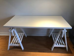 IKEA adjustable-height workstation with two shelves for Sale in Kirkland, WA