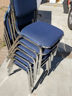 Six Steel Chairs for Sale in Whittier,  CA