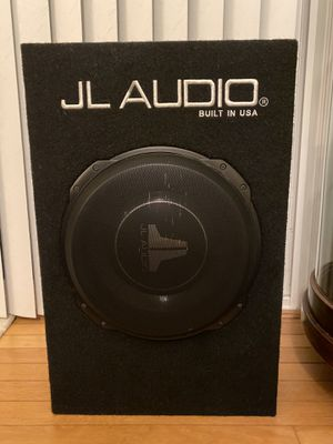 "JL AUDIO 12"" subwoofer and box for Sale in South Riding, VA"