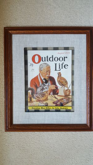 Framed outdoor Life Magazine August 1933 of a taxidermist for Sale in Aloha, OR
