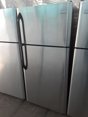 $350 Frigidaire stainless 18 cubic fridge apartment-size includes delivering the San Fernando Valley a warranty and installation for Sale in Los Angeles, CA