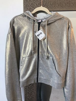 Adidas women's cropped hoodie, gold for Sale in Lansdowne, VA