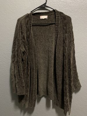 Olive green cardigan for Sale in Glendale, AZ