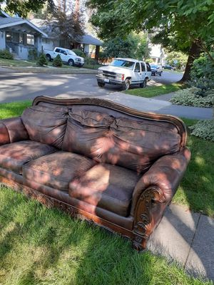 Free Leather Couch for Sale in Spokane, WA