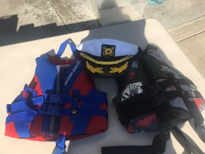 Life Jackets with captains hat ! for Sale in Berea, OH