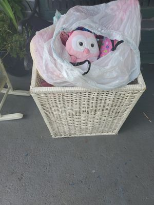Free laundry basket filled with little girl toys for Sale in Fort Lauderdale, FL