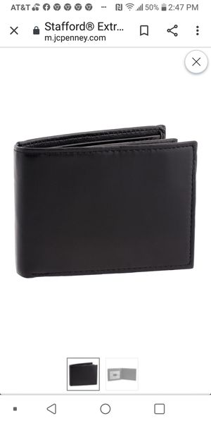 New case of 12 men's bifold black soft leather wallets for Sale in Little Rock, AR