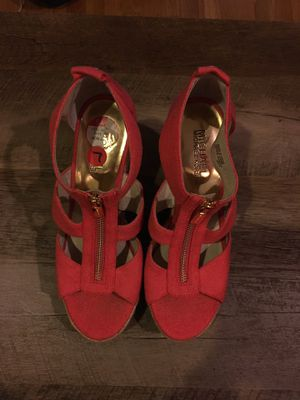 Michael Kors Berkley Zipper Front Heeled Sandals for Sale in Boston, MA