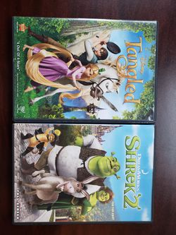 Shrek 2 and Tangled dvds for Sale in Houston,  TX