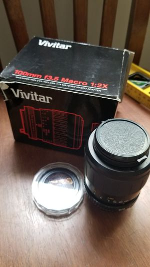 Minolta film camera 100m mf35 macro fixed focal length lens for Sale in North Chesterfield, VA